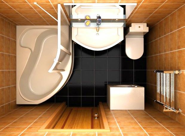 Интерьер ванной 3 кв м фото