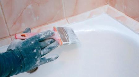 Как покрасить ванну