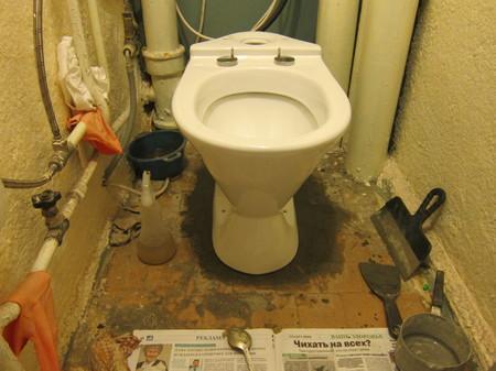 Ремонт в туалете своими руками