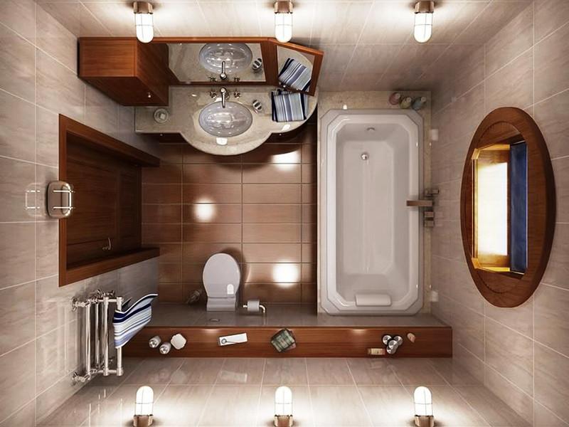 Ремонт маленькой ванной классичесский стиль