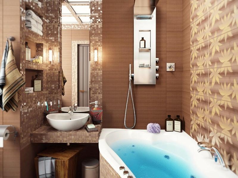 Ремонт маленькой ванны дизайн