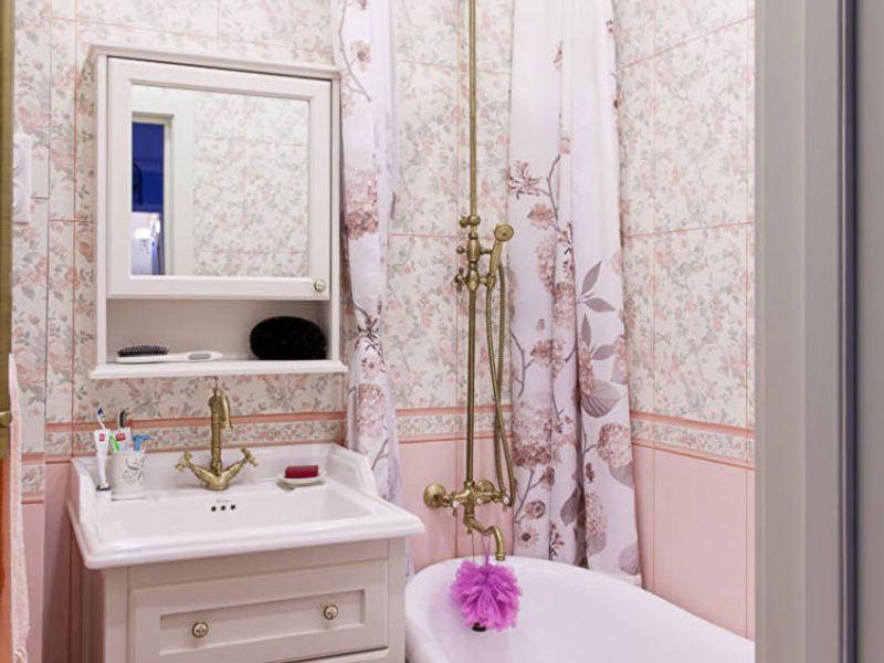 Ремонт маленькой ванны классичесский стиль