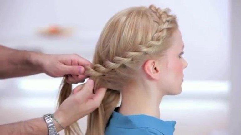 Как сплести волосы с жгут
