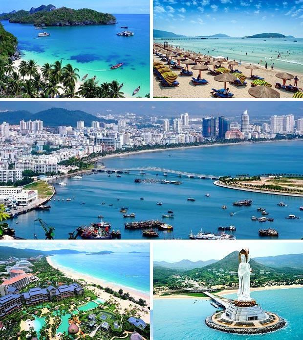 Пляжи на курорте острова Хайнань