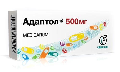 Упаковка таблеток Адаптола 500 мл