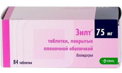84 таблетки Зилт по 75 мг